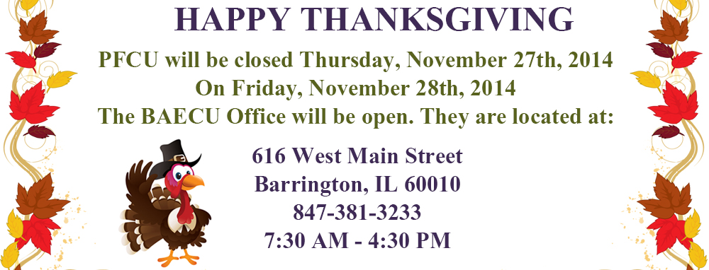 Closed for Thanksgiving