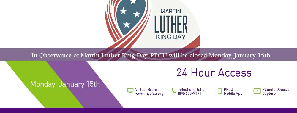 We will be closed Monday, January 15th in observance of Martin Luther King Day.